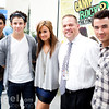 The Jonas Brothers and Demi Lovato in store signing and meet and greet at Walmart in Rochester Hills, MI on 09/01/10