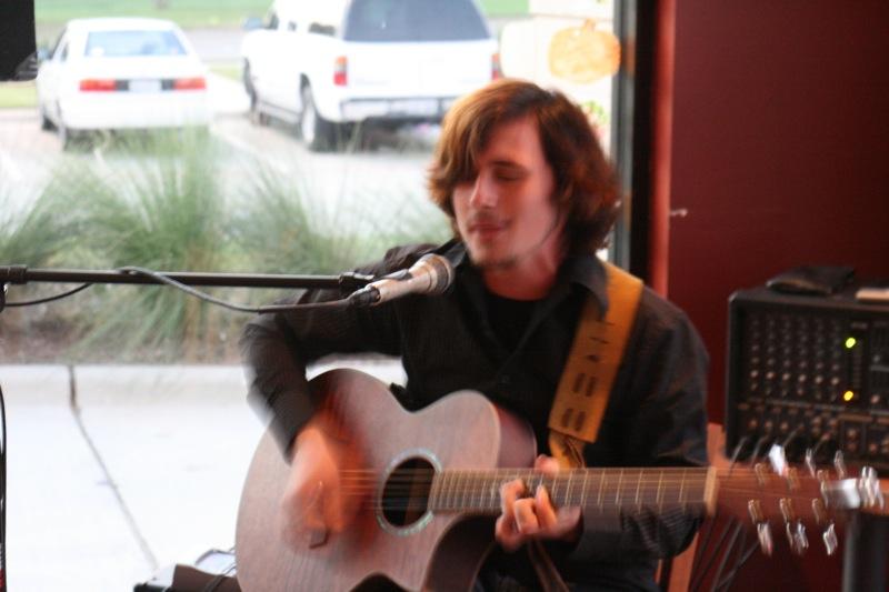 Jono at the mic.