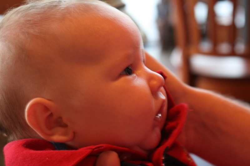 Nephew Gideon is puzzled by what he sees.