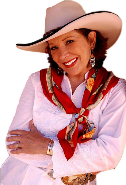 Juni Fisher, the 2006 Western Music Association Female Vocalist of the Year.  She's from Franklin, Tennessee -- but she fits right in to the Black Hills of Wyoming and South Dakota!