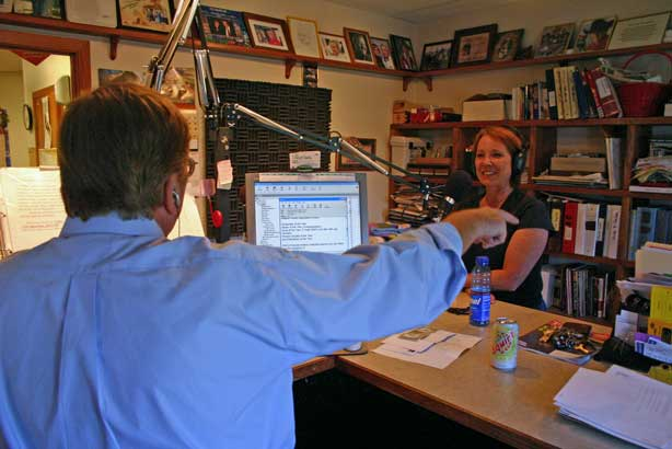 "Juni has become a regular visitor on the ""Live with Jim Thompson"" radio show whenever she's in the area."