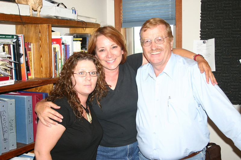 "Like three peas in a pod!  That's Melissa Billingsley of CBSi with Juni Fisher and Jim Thompson following an appearance on the ""Live with Jim Thompson"" radio program in Spearfish."
