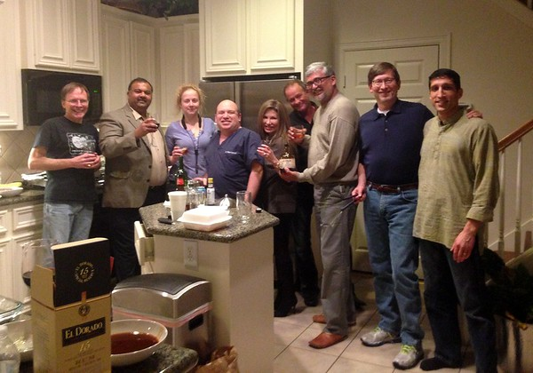 Robert bass, Roger rum, Alisha sax, Bobby keys,friends drinking the rum, Yours truly,  Rich drums, Rahul tabla  and  in the foreground : El Dorado 15 yr !! thanks Roger