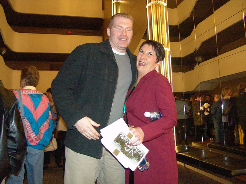 Jeff and my Mom after the presentation of the medals.