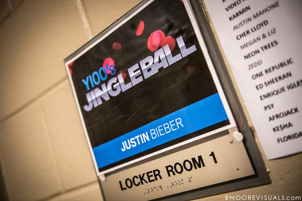 Justin Bieber's dressing room on December 8, 2012 during the Y100 Jingle Ball at BB&T Center in Sunrise, Florida