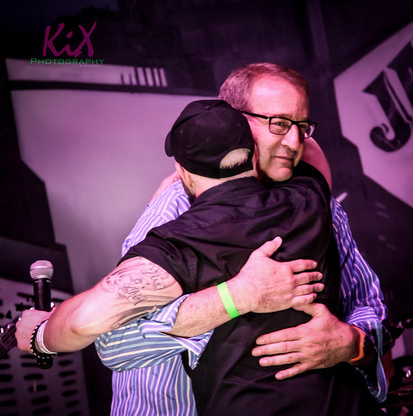 Bromance?!?! Mark Rosen and Chris Hawkey hugging it out at the Rube Party 2013