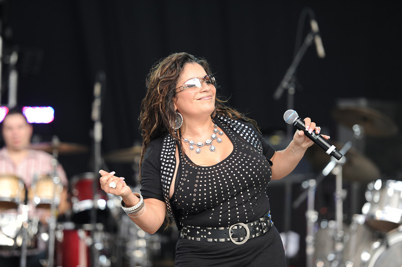 Seaford, NY - AUGUST 08: Lisa Lisa performs during KTU's Beatstock 2010 at the Jones Beach Amphitheater on August 8, 2010 in Seaford, New York. ((Photo by Joseph Bellantoni/In House Image))