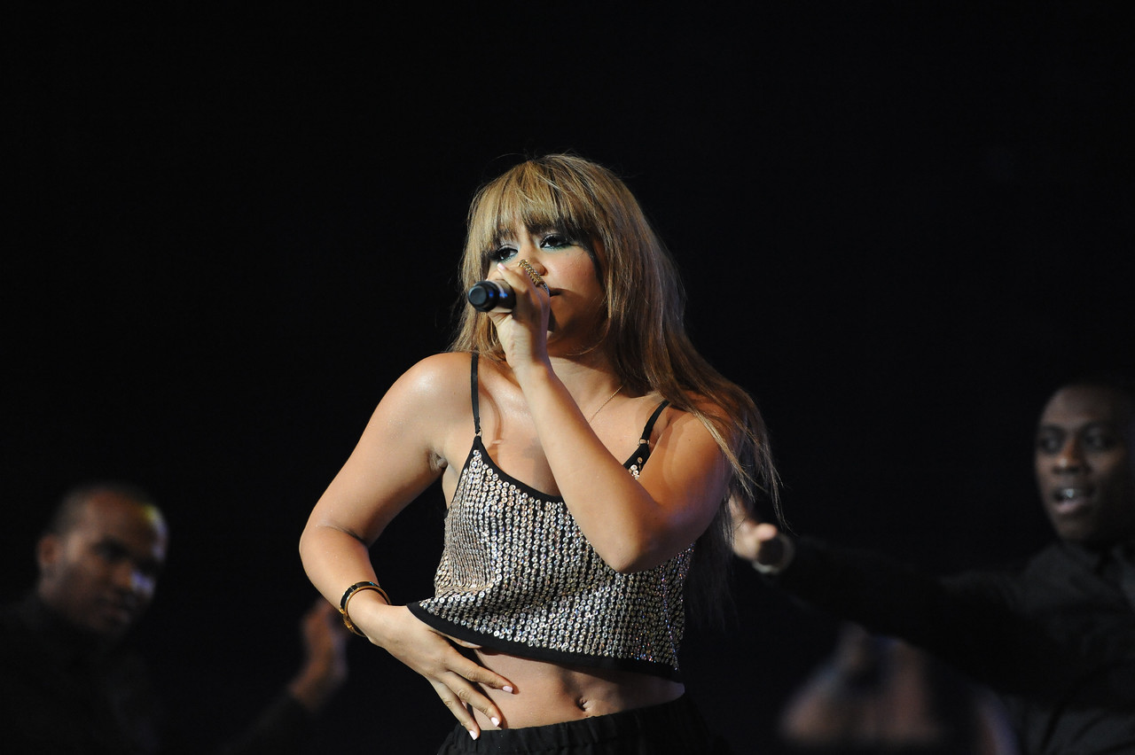 Seaford, NY - AUGUST 08: Kat DeLuna performs during KTU's Beatstock 2010 at the Jones Beach Amphitheater on August 8, 2010 in Seaford, New York. ((Photo by Joseph Bellantoni/In House Image))