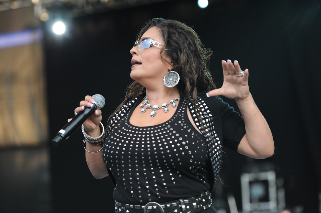 Seaford, NY - AUGUST 08: Lisa Lisa performs during KTU's Beatstock 2010 at the Jones Beach Amphitheater on August 8, 2010 in Seaford, New York. (Photo by Joseph Bellantoni/In House Image)