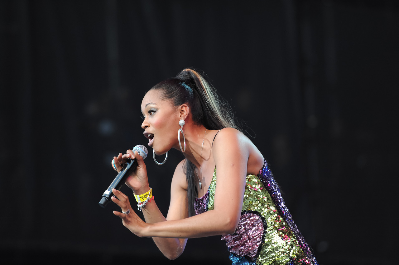 Seaford, NY - AUGUST 08: Shontelle performs during KTU's Beatstock 2010 at the Jones Beach Amphitheater on August 8, 2010 in Seaford, New York. ((Photo by Joseph Bellantoni/In House Image))