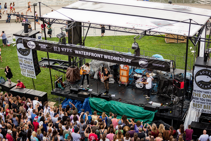July 27, 2016 Kaleo at WFPK 91.9 Waterfront Wednesday in Louisville, Kentucky. ©Vasquez Photography