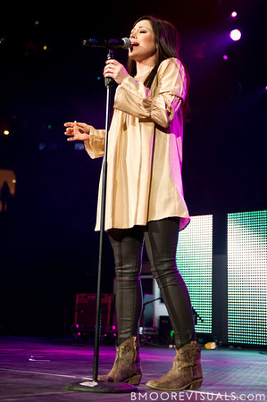 Kari Jobe performs on Januar 14, 2012 during Winter Jam at Tampa Bay Times Forum in Tampa, Florida