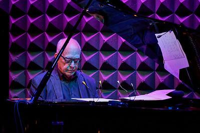 New York, New York - Sept. 30, 2015 :  Steve Kuhn performs a solo number at the Norwegian Singer Karin Krog's concert  at New York's Joes' Pub.    Credit: Robert Altman