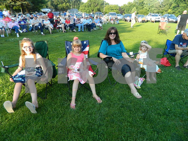 Janine Witte with her grand daughters Audra Sell, Ava Sell, and  Ella Sell getting ready to enjoy the show.