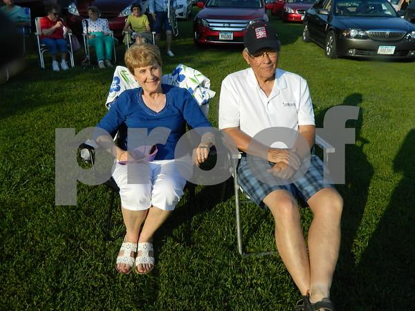 Carol and Russ Christensen enjoying the Karl King band