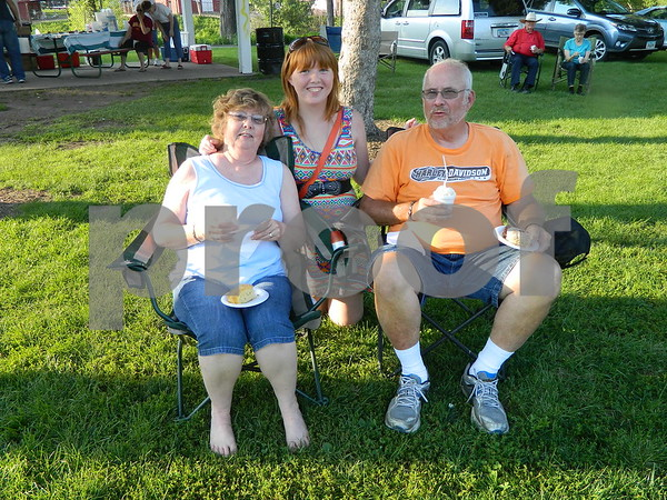 Linda and Terry Parker with their grand daughter Megan Becker.