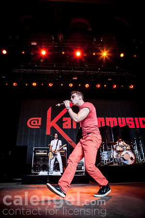 """Nicholas Louis """"Nick"""" Noonan of Karmin performs live on stage at the Klipsch Music Center in Indianapolis on July 12, 2013 opening for the Jonas Brothers"""