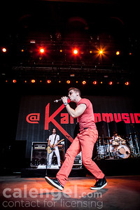 "Nicholas Louis ""Nick"" Noonan of Karmin performs live on stage at the Klipsch Music Center in Indianapolis on July 12, 2013 opening for the Jonas Brothers"