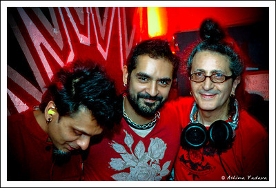(L to R) Janaka, Karsh Kale and Cheb i Sabbah