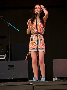 Kate Voegele onstage at Six Flags Great Adventure June 25, 2008.