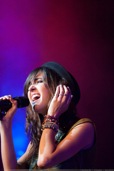 Kate Voegele performing at Revolution Hall on October 13, 2009