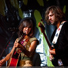 Kate Voegele (pictured left) and Mark Tobik [Bass] (pictured right) peform at Revolution Hall on October 13, 2009