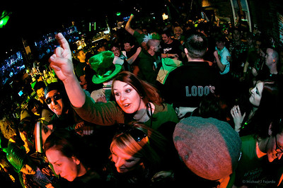 Crowd at the Darling Thieves Show 93.3 KTCL 2011 Keggs and Eggs St. Patrick's Day Lodo's Bar and Grill Denver, CO  March 17, 2011