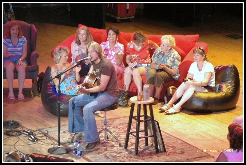 Keith and the lucky fans who got to sit on the stage!