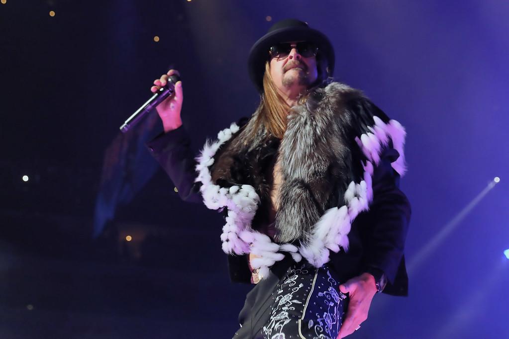 . Kid Rock live at Little Caesars Arena on 9-12-2017.  Photo credit: Ken Settle