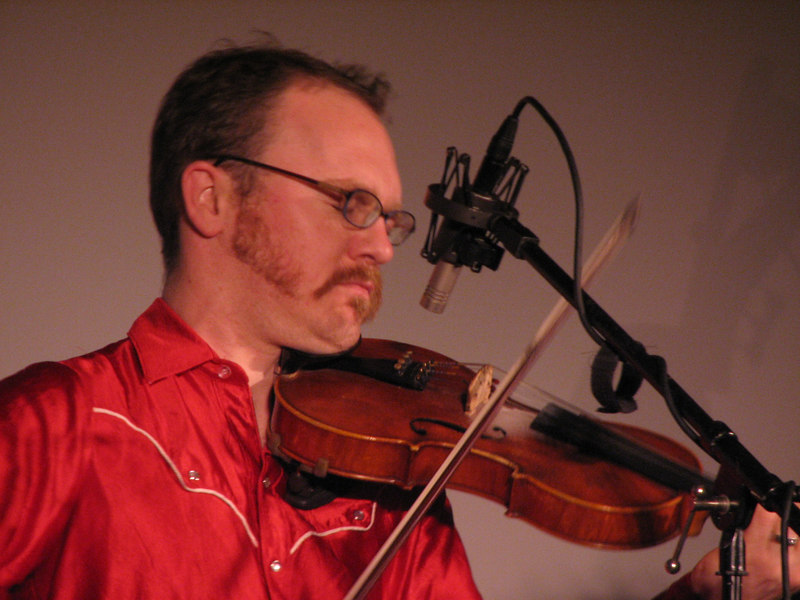 Casey Driessen on the five-string fiddle.