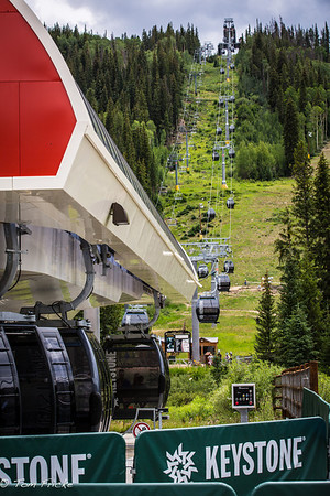 Gondola rides to the top of Dercum Mountain