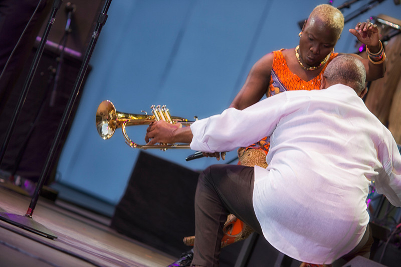 ANGELUQUE KIDJO & HUGH MASEKELA - Playboy Jazz Festival - June 15-16, 2013 - photos © Dailey Pike for LAJazz.com