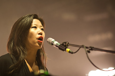 Nancy Whang of LCD Soundsystem performs on October 5, 2010 at Hard Rock Live in Orlando, Florida.