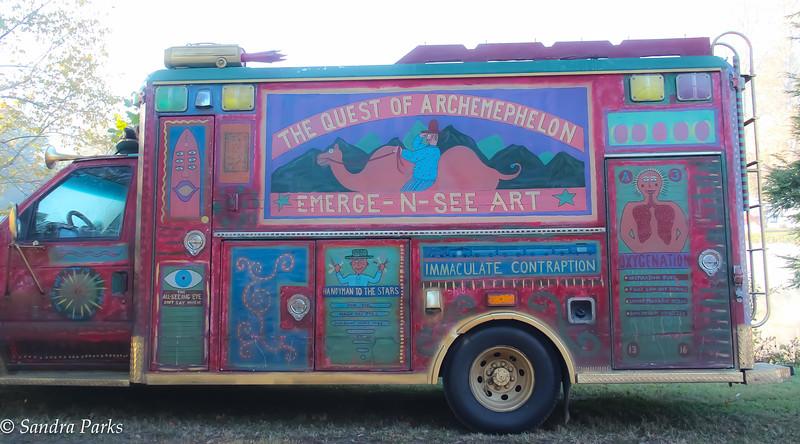 Emerge-n-see-art ambulance