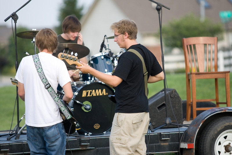 Lincoln Street Band performs at Rock the Lot, an outdoor party at Lafayette's Evangelical Christian Church<br /> <br /> ©2008 Alex Turco Photography