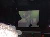 Oscar on one of the big screens.