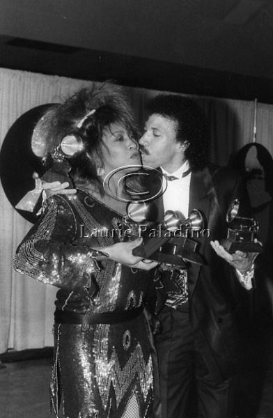 Tina Turner and Lionel Ritchie Grammy Awards 1985 Los Angeles, CA