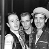 Clash_1002<br /> The Clash photographed in The Fun House in an amusement arcade in Asbury Park, New Jersey in 1982 during their Combat Rock tour. Pictured left to right are Joe Strummer, Paul Simonon and Mick Jones<br /> Photo credit mandatory: ©Laurie Paladino