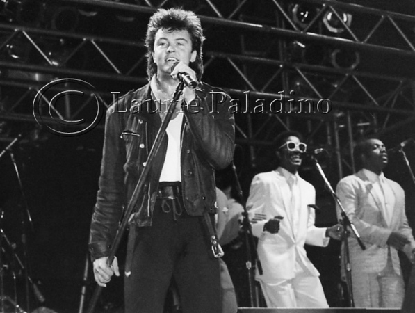 80's British pop singer Paul Young performs live in concert in New York City, 1985.<br /> Photo ©Laurie Paladino 1985