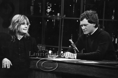 Ozzy Osboune Appears on Late Night With David Letterman
