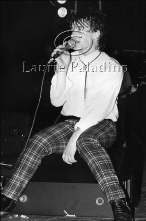 Lead singer Bono Vox of Irish group group U2 performs live in concert at the Palladium Theater in New York, 1983