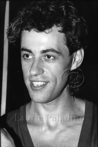 Bob Geldof of The Boomtown Rats at rock nightclub The Ritz in New York City. Bob later went on to become founder of the Band Aid and Live Aid projects. Photograph by Laurie Paladino.