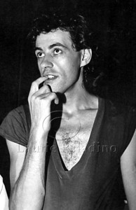 Bob Geldof of the Irish pop group The Boomtown Rats in his dressing room at New York City rock club The Ritz