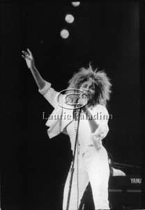 Tina Turner performs live in concert at Madison Square Garden in New York City on August 2, 1985. Photo ©Laurie Paladino 1985