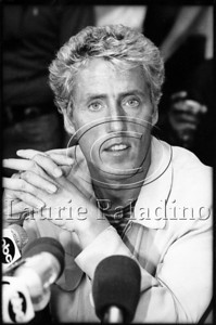 Lead singer of The Who, Roger Daltrey in New York City 1982 Press Conference to announce the 1982 Who world tour. Photo ©Laurie Paladino 1982