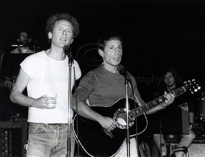 Paul Simon and Art Garfunkel Perform at Press Conference in New York City