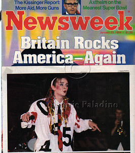 Laurie Paladino's photo of Boy George in Newsweek Magazine