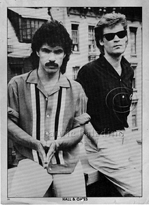 Daryl Hall (rear) and John Oates (front) on roof of Electric Lady Studios NYC.