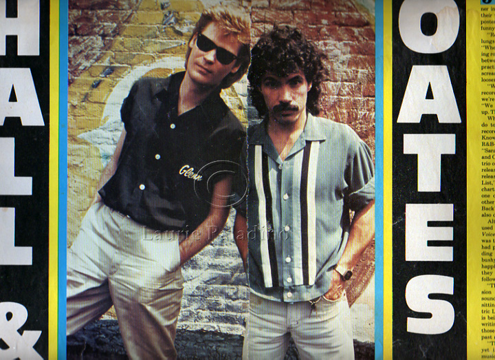 Daryl Hall and John Oates photographed by Laurie Paladino on the roof of Electric Lady Studios, NYC