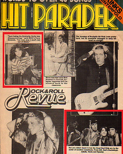 Bruce Springsteen and The E Street Band and REO Speedwagon photos in Hit Parader Magazine